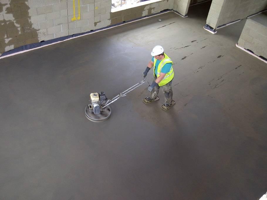 Железнение бетонных поверхностей: технология процесса