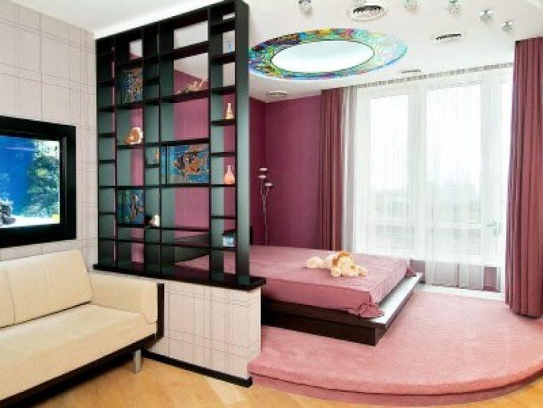 Варианты разделения одной комнаты на две зоны: дизайнерские хитрости