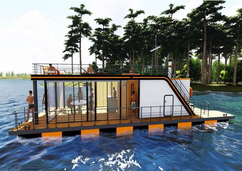 Плавучая баня: особенности конструкции на воде, преимущества и технология возведения