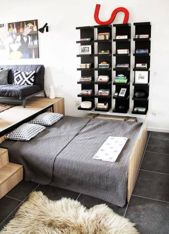Кровать в нише, насколько это удобно и как установить