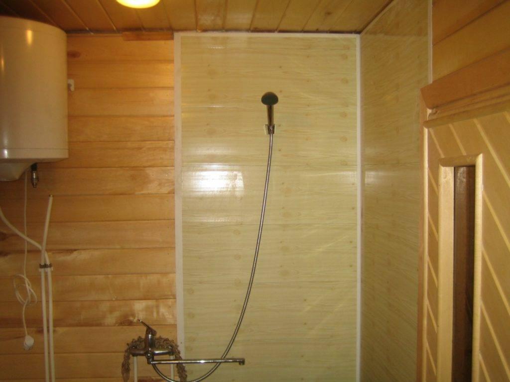 Совмещаем парилку и помывочную в бане