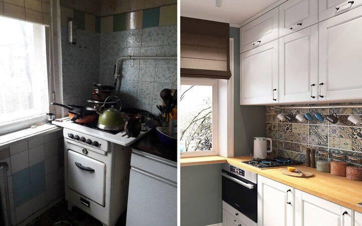 Как обновить убитую кухню при маленьком бюджете: примеры на фото