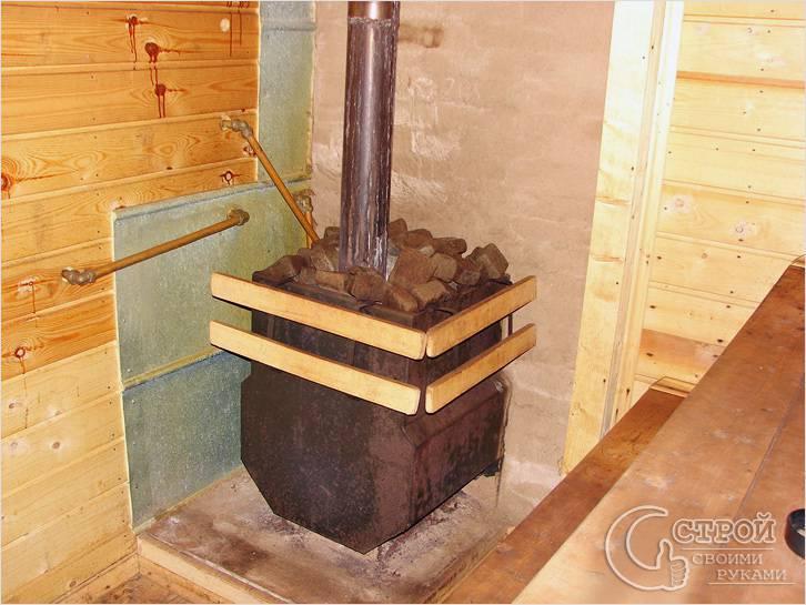 Установка электрической печки для сауны и бани, варианты размещения и установки (100 фото)