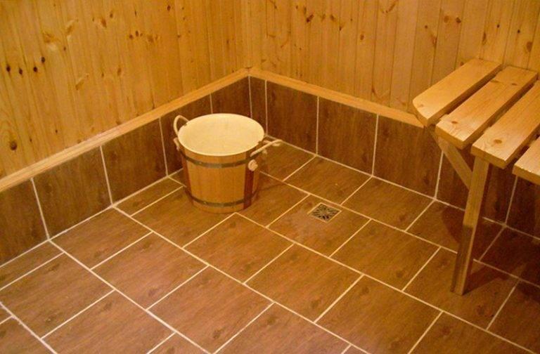 Пол в бане из чего лучше сделать - выбираем подходящий вариант
