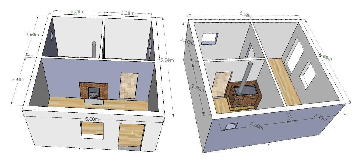 Как построить баню из бруса 3х4 своими руками: проекты, чертежи, инструкция, фото