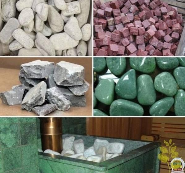 Камни для печи в баню: породы, какие выбирать, как укладывать, где взять