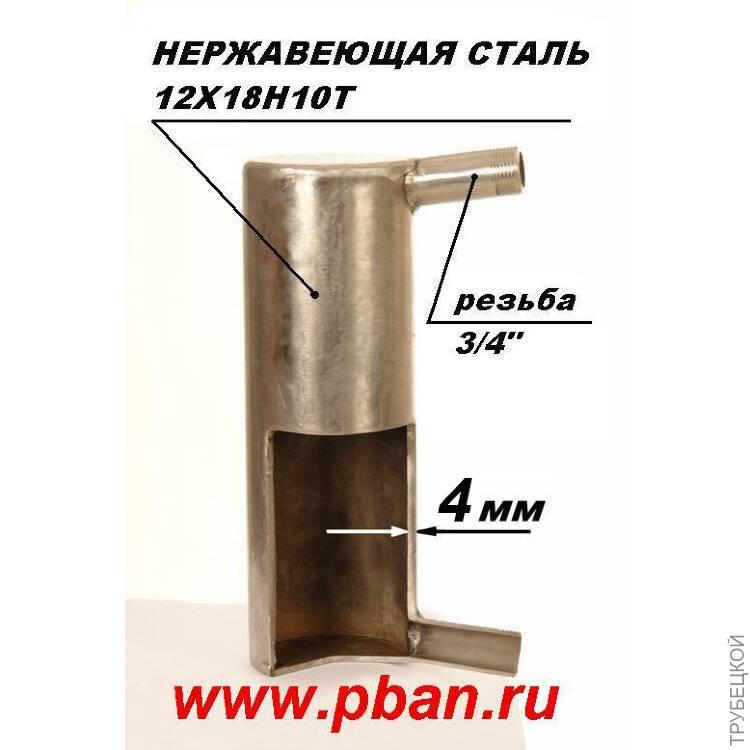 Теплообменник для банной печи своими руками