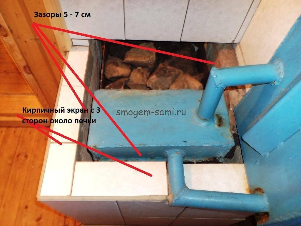 Особенности укладки теплого пола в бане от печки