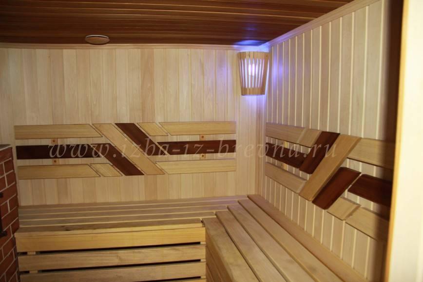 Внутренняя отделка бани своими руками: фото парилки и моечной внутри бань