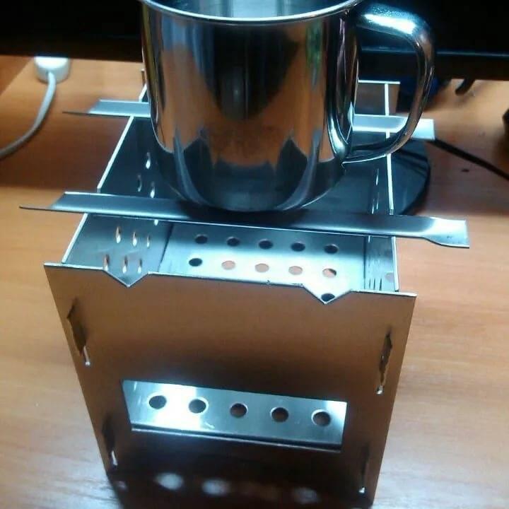 Печка щепочница: мое новое изделие из хлама