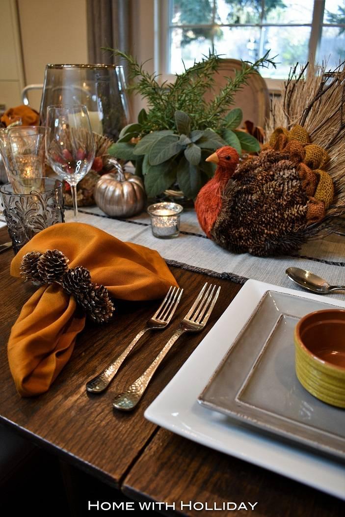 Осенняя сервировка стола: тонкости оформления на фото