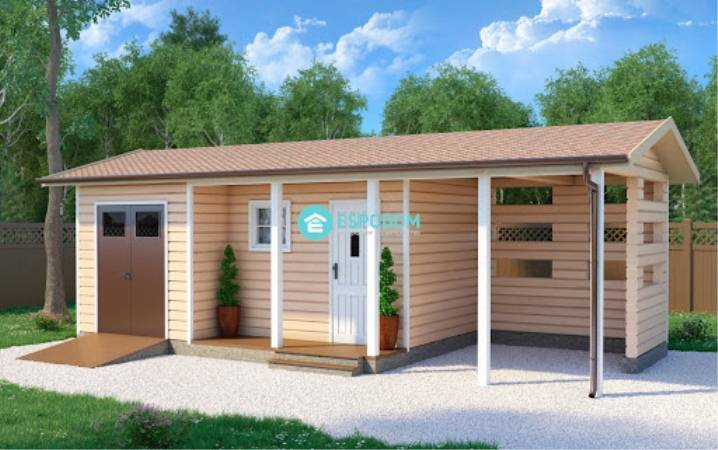 Реализуем проект бани с хозблоком под одной крышей реализуем проект бани с хозблоком под одной крышей