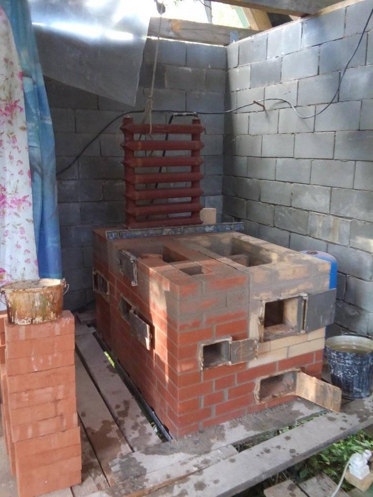 Сложить печь для бани из кирпича: правильная кладка своими руками