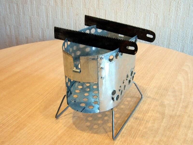 Поместится даже в карман! как изготовить печь-щепочницу своими руками