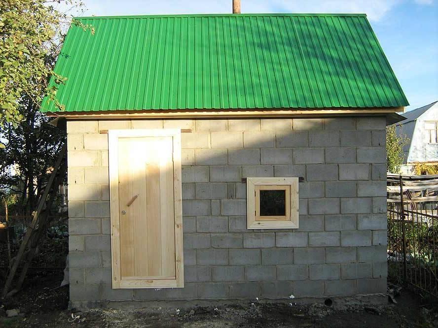 Баня из пеноблоков своими руками: постройка, отделка внутри и снаружи, поэтапное строительство