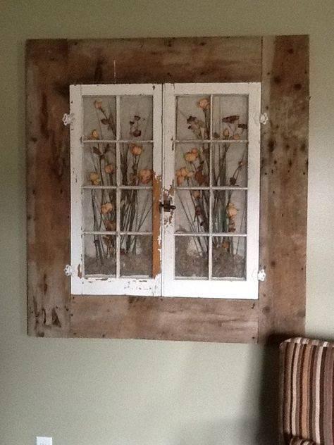 Как можно использовать старые деревянные рамы: примеры с фото