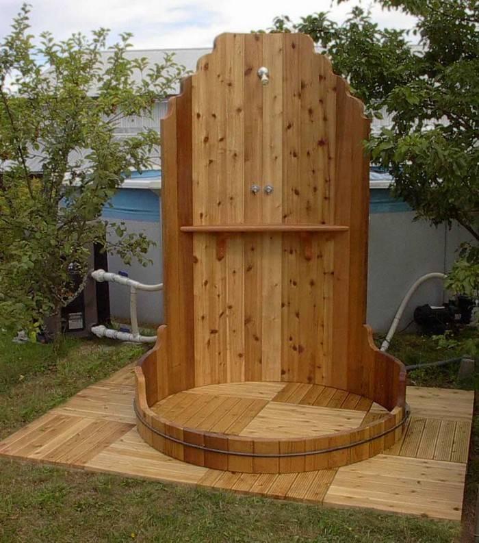 Как построить летний душ на даче: пошаговая инструкция