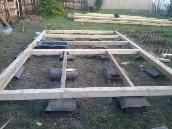 Фундамент под баню — дешево, быстро и очень просто