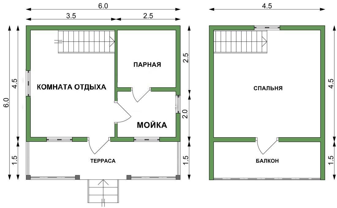 Баня размером 3 на 6 - планировка (52 фото) оформление конструкции площадью 6 на 3 внутри, постройка