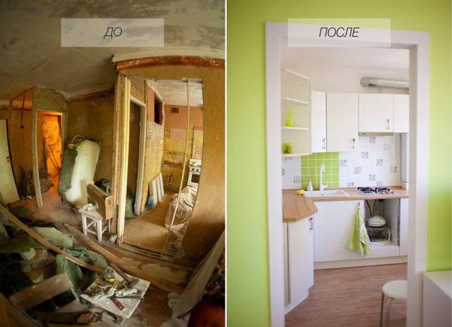 Ремонт в хрущевке 2х комнатной: фото до, после и без перепланировки ремонт в хрущевке 2х комнатной: фото до, после и без перепланировки