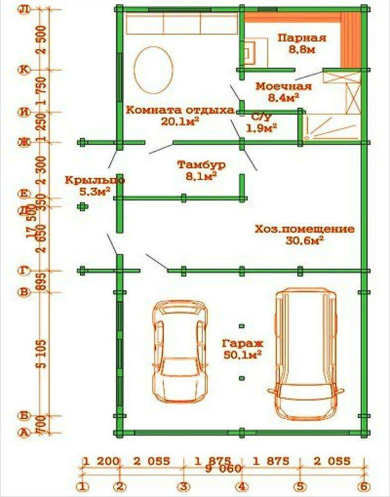 Гараж и баня с беседкой под одной крышей: примеры проектов, основные этапы работ