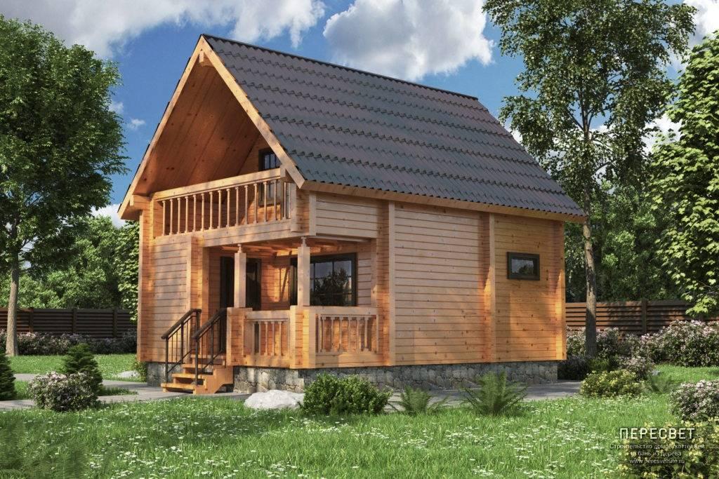 Проект бани со вторым жилым этажом - строим баню или сауну