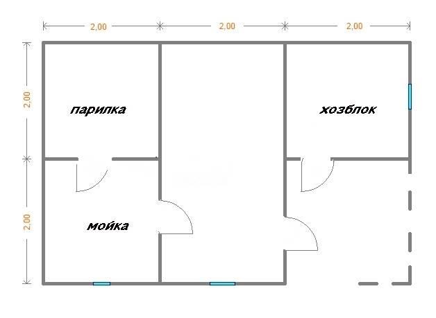 Как составить проект хозблока с баней и построить его своими руками?