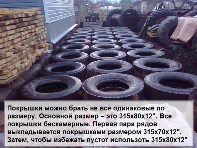Фундамент из покрышек: конструкция из автомобильных шин для дома своими руками, минусы варианта, заливать бетоном или нет, отзывы специалистов