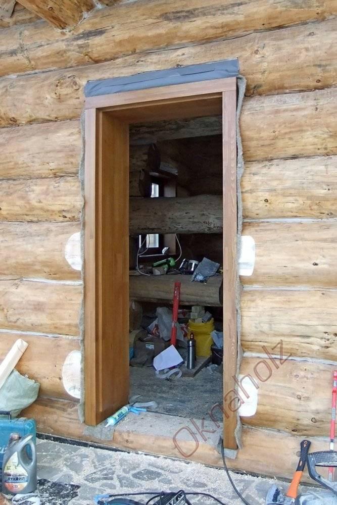 Подробно об установке дверей в баню