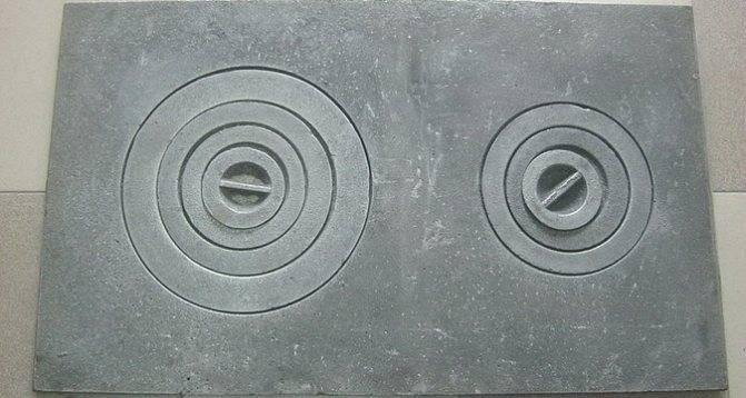 Установка чугунной плиты в печь