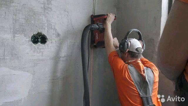 Штробление стен под проводку своими руками |  стены | postrojkin.ru