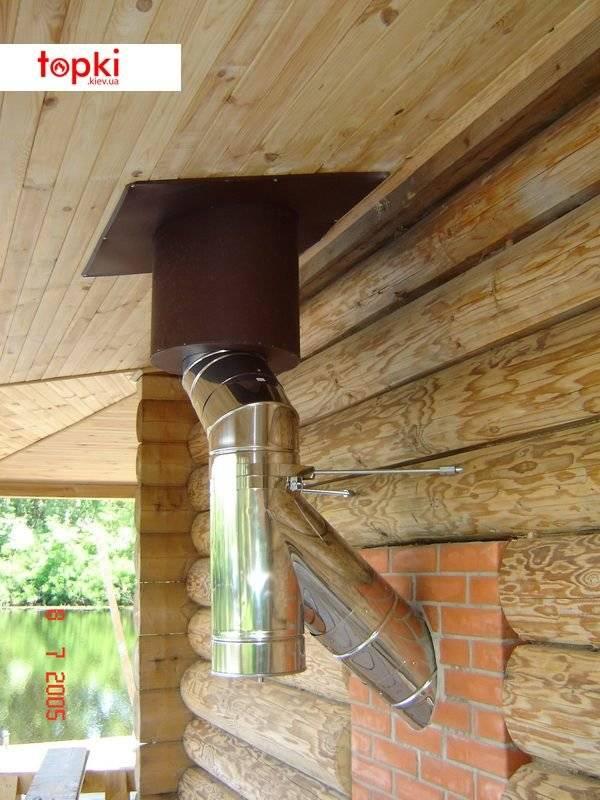 Монтаж дымохода через стену: как правильно сделать в доме из кирпича и дерева