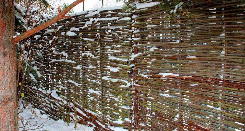 Как самостоятельно сделать качественных плетеный забор из веток и прутьев?