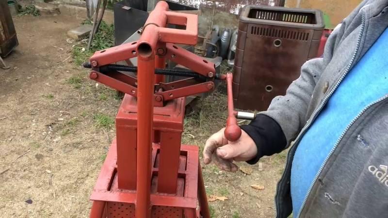 Пресс для топливных брикетов: варианты изготовления установок для прессования опилок своими руками