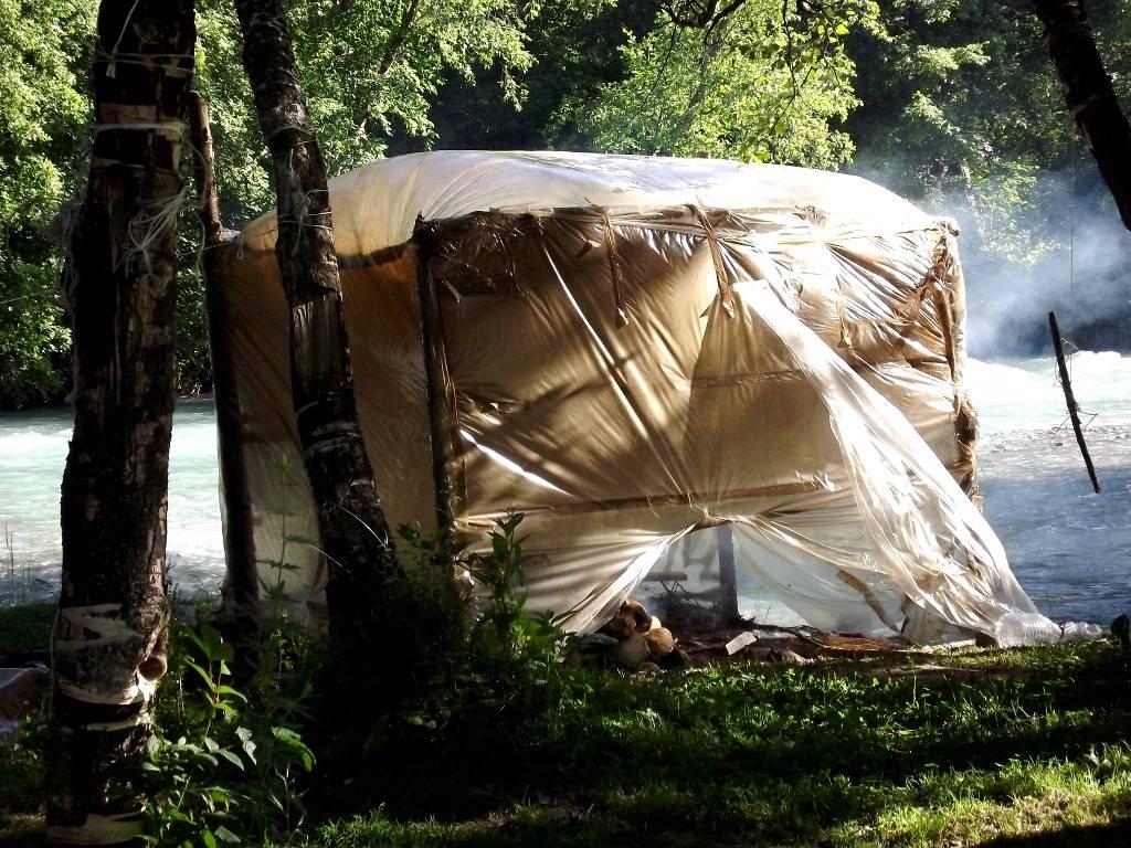 Как соорудить походную баню-палатку своими руками, материалы для изготовления