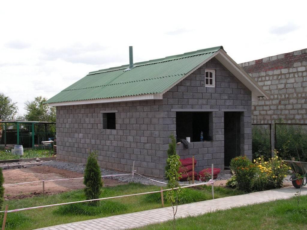 Бани из керамзитобетонных блоков (39 фото): плюсы и минусы, проекты и пошаговая инструкция изготовления своими руками