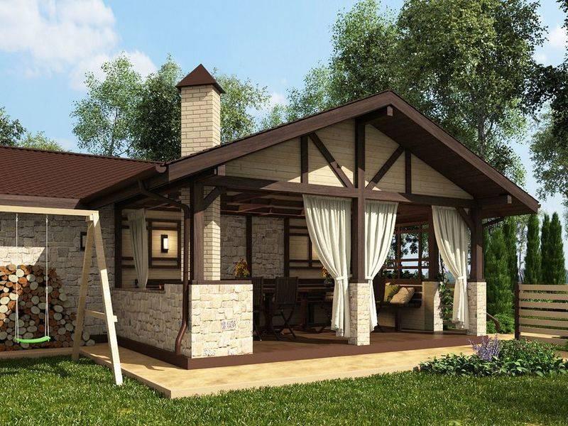 Какие проекты бань с беседкой под одной крышей подойдут именно вам