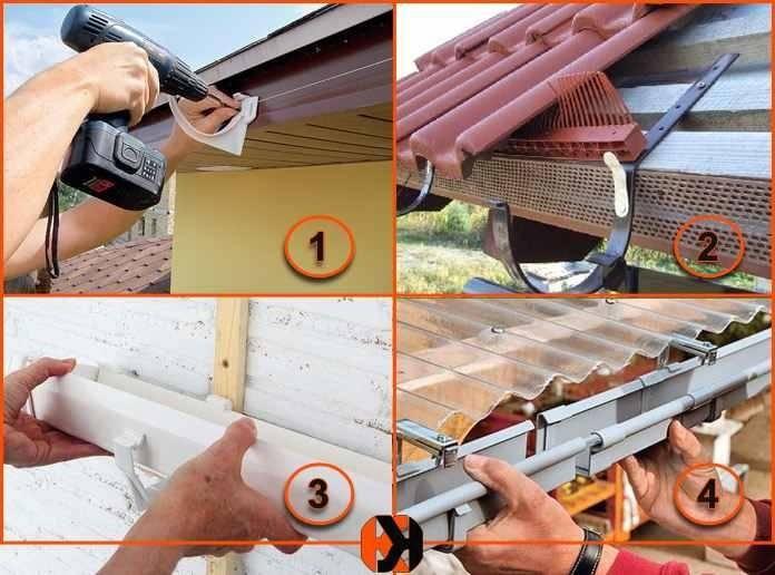 Как правильно установить пластиковые водостоки для крыши своими руками: монтаж водосточной системы, советы эксперта