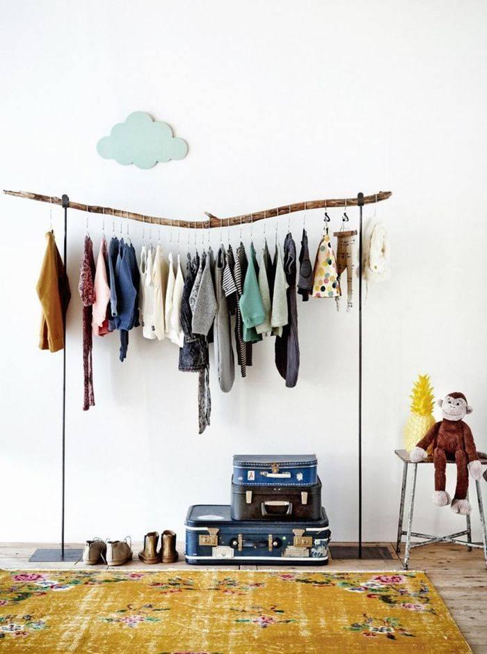 Как хранить вещи, если нет шкафа: новости, дизайн, интерьер, квартира, советы, полезные советы