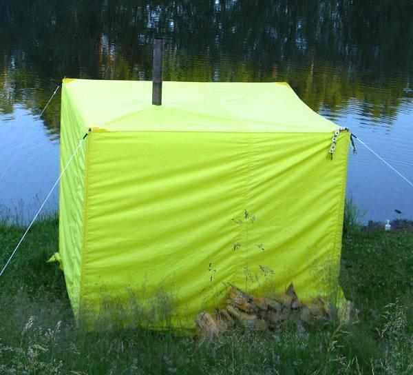 Походная баня - делаем своими руками из палатки и полиэтилена