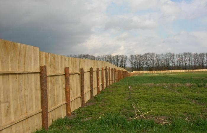 Временный забор – варианты, выбор материалов, установка