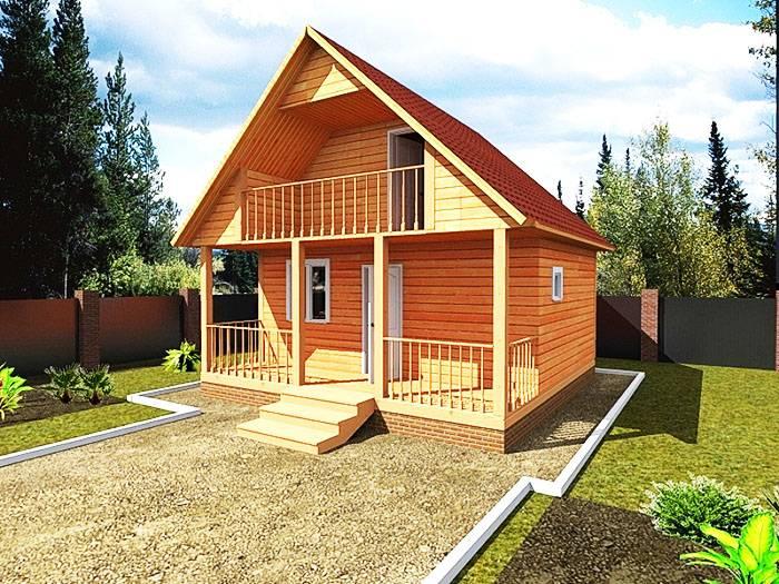 Планировка дома 8 на 8: отличный проект деревянного двухэтажного дома с двумя спальнями  - 26 фото