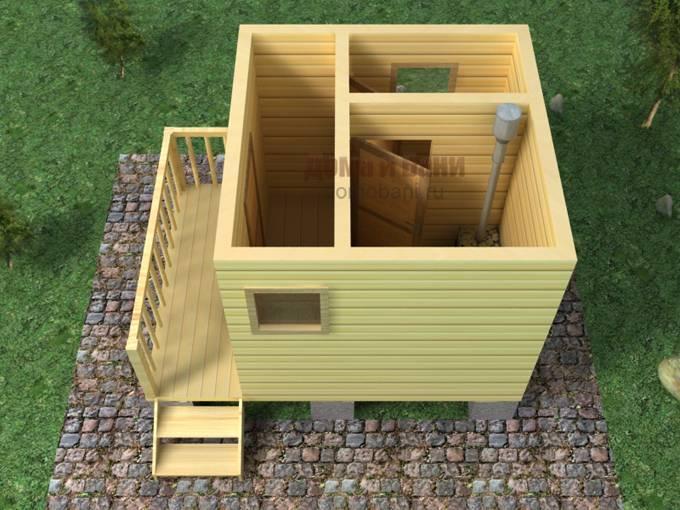 Как построить баню из бруса 3 на 3