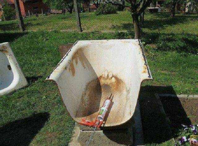 Печь из чугунной ванны своими руками