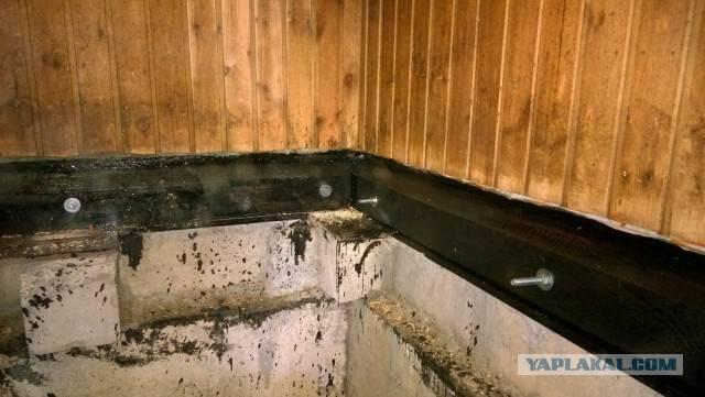 Как защитить пол бани от гниения