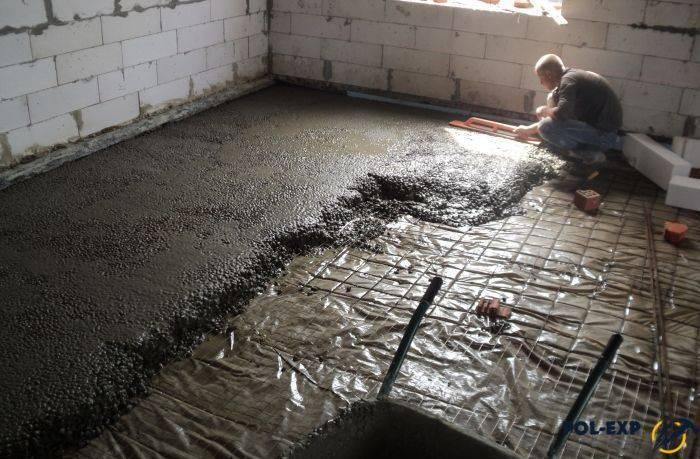 Бетонное основание под теплый пол — подводные камни: как избежать ненужных трат