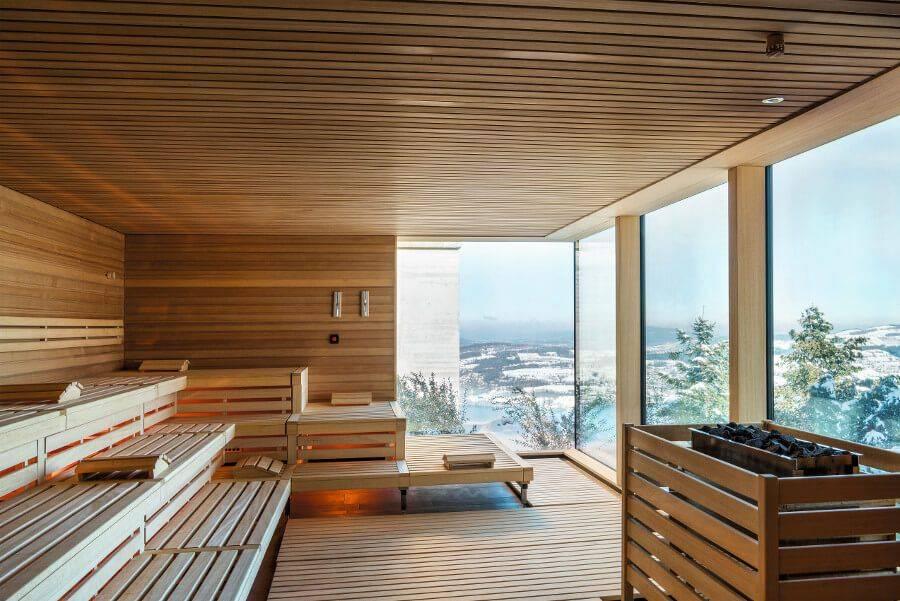 Проекты бани с панорамными окнами- фото строительства под ключ бань с панорамным остеклением