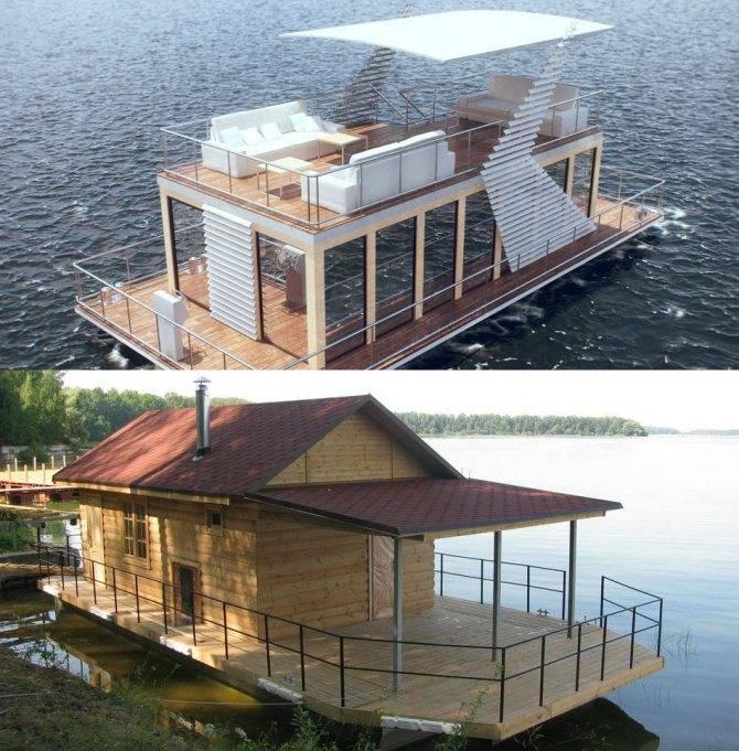 Плавучий дом для временного и постоянного жилья с фото