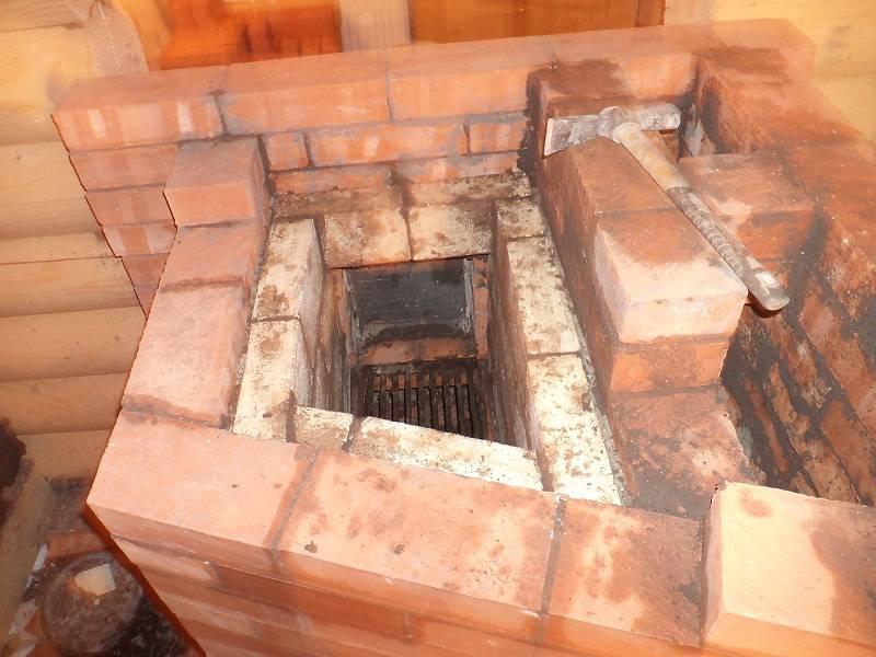 Обрамление порталом топочного проёма печи в бане