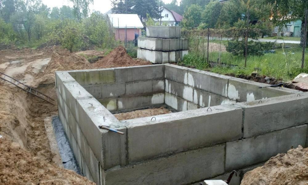 Фундамент для бани из блоков - 2 методики возведения своими руками